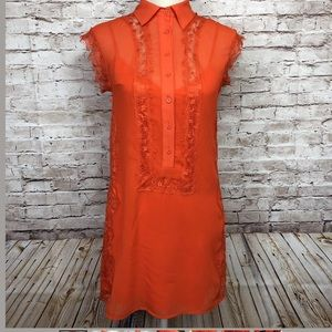 BeBe Red Button Up Dress